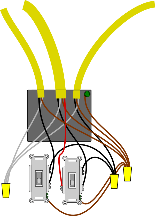 Wiring A 3 Way Switch In A Junction Box