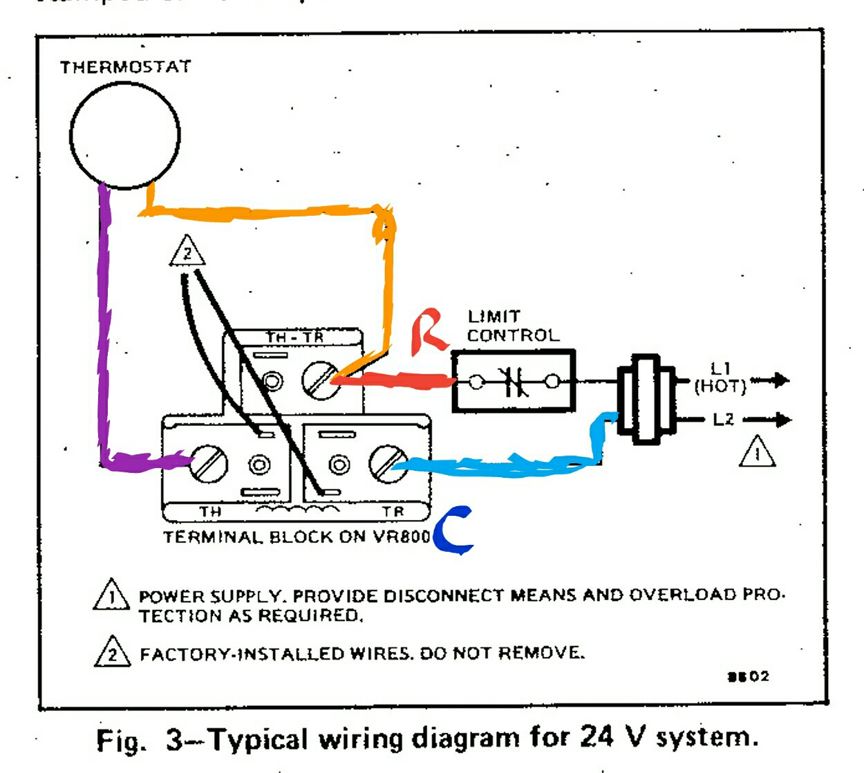 thermostat wiring diagram bryant heat pump typical