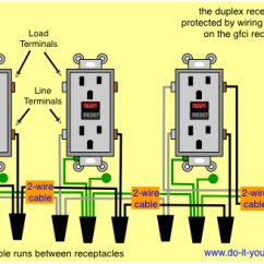 Wiring Diagram For Light Switch And Outlet In Same Box Pin 7 Arduino Receptacle - Adding A Gfci To An Existing Circuit. 2 Black, White Wire Problem Home ...