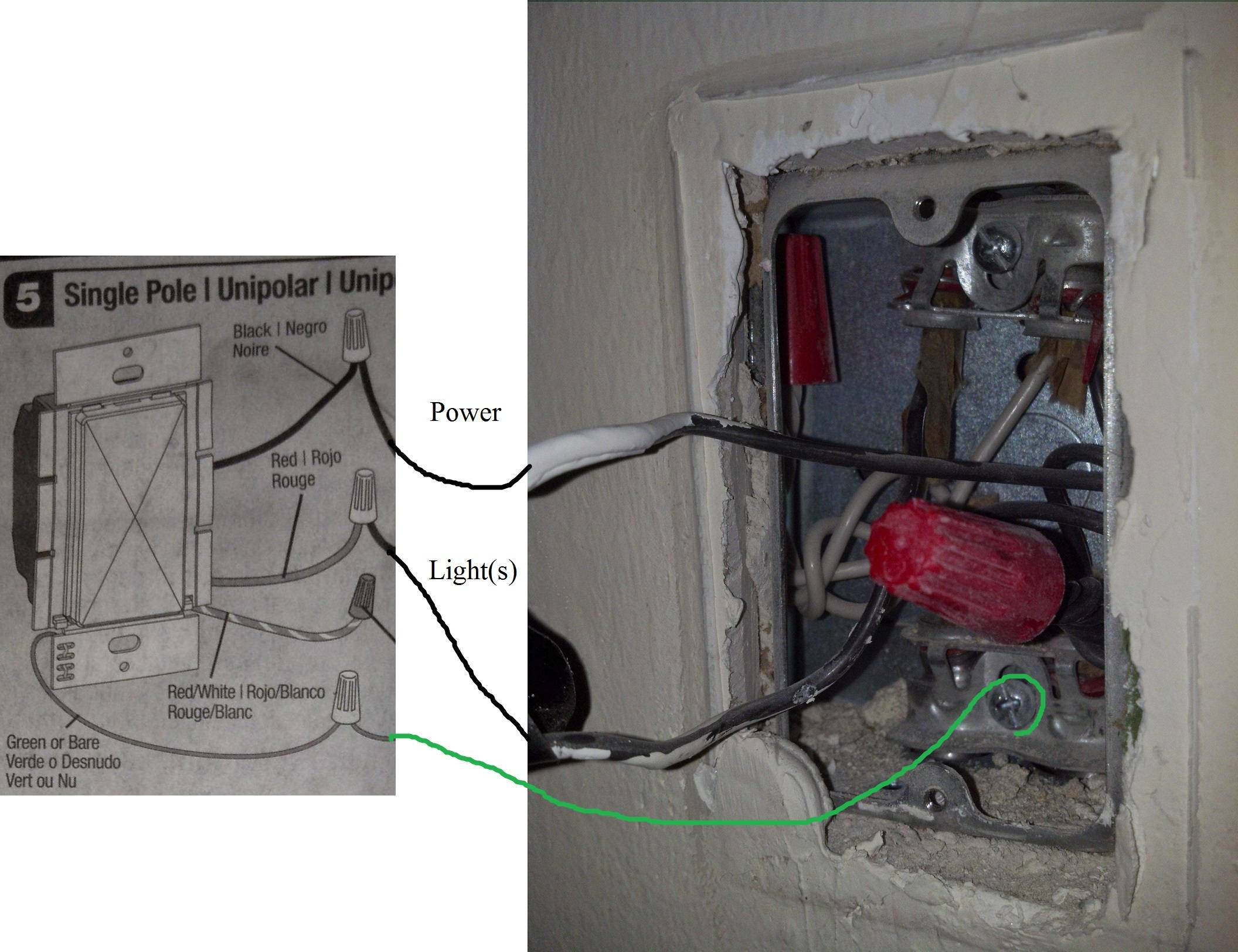 Wiring Light Fixture With Dimmer Switch
