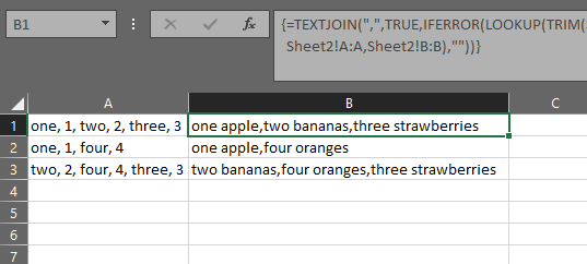 Excel Substitute a substring in cell (sheet A) by the