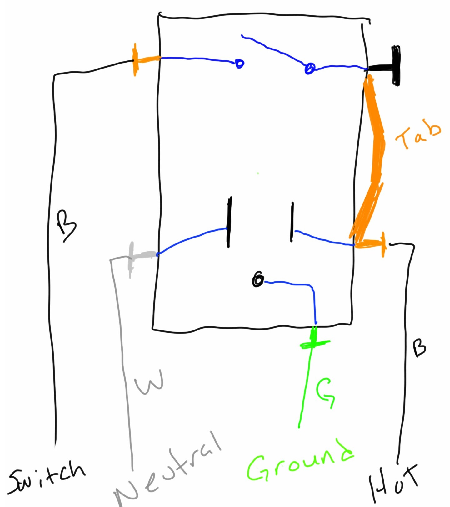hight resolution of typical combo switch wiring