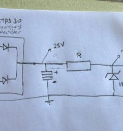simple rectified voltage regulator not giving enough power [ 2942 x 1407 Pixel ]
