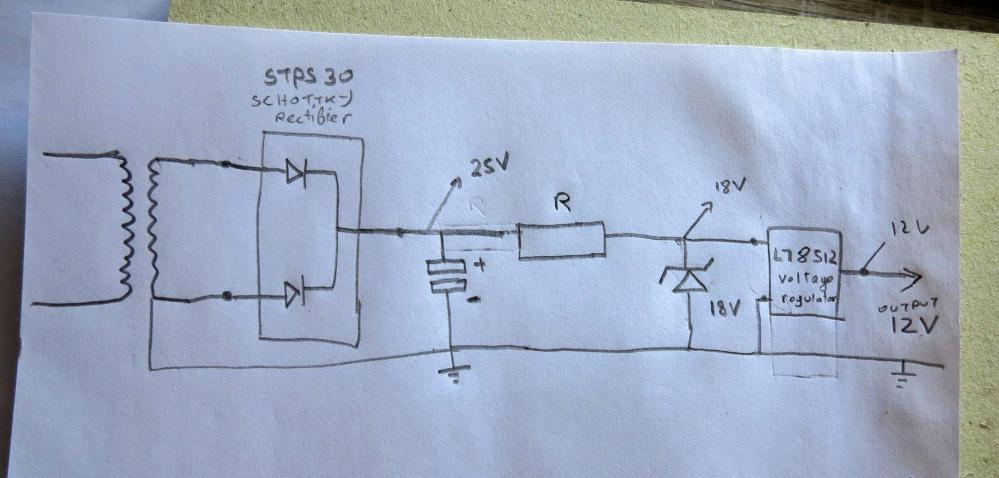 medium resolution of simple rectified voltage regulator not giving enough power