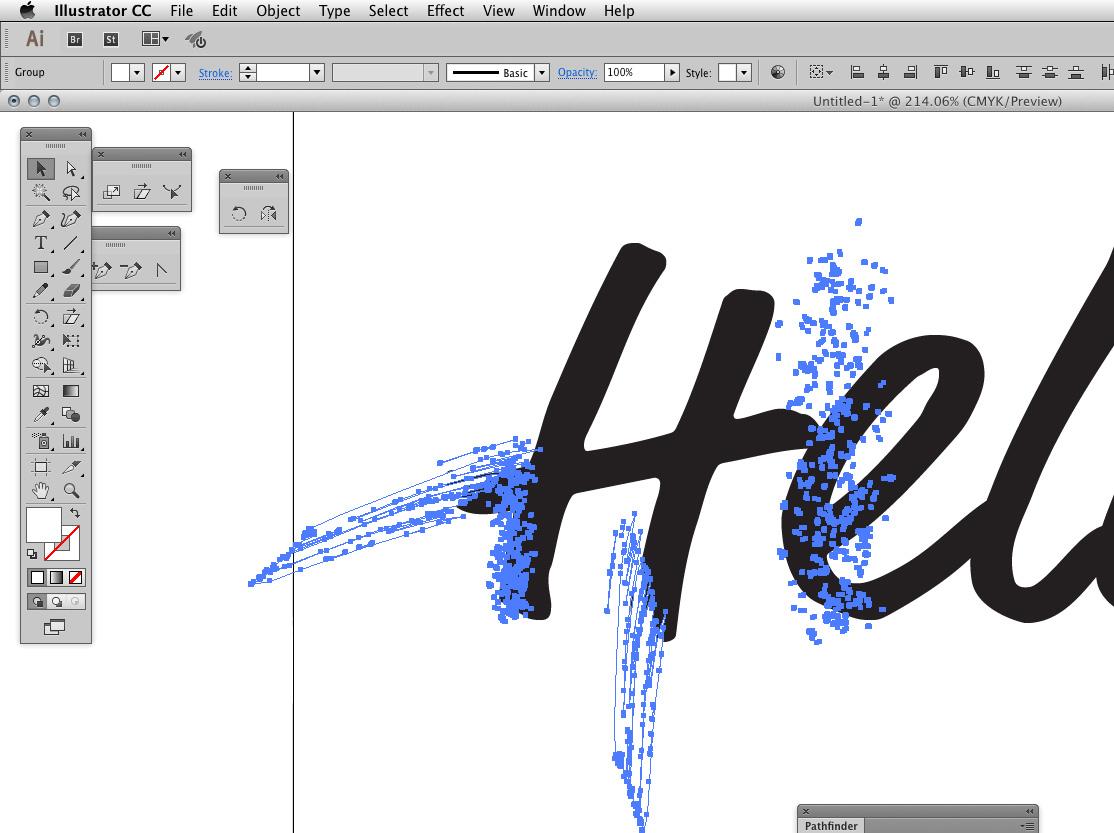 illustrator vector text