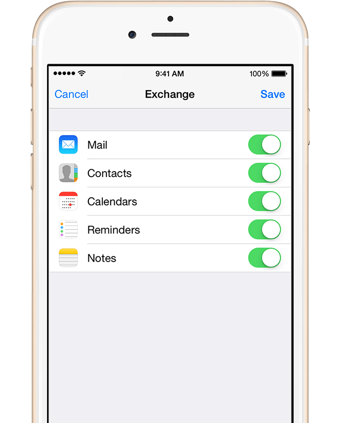 Iphone IOS Sync Address Book With Exchange And Contact