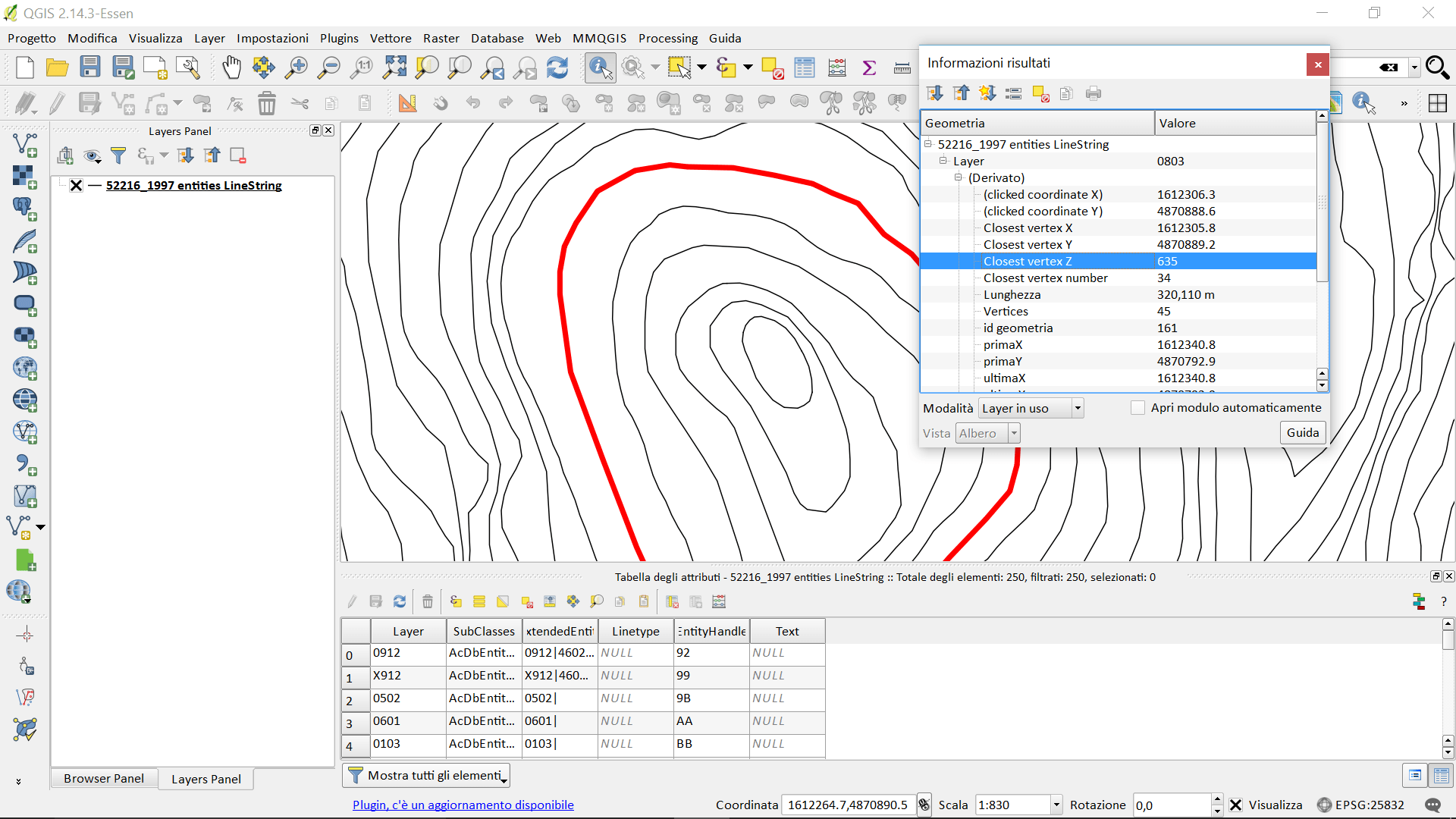 qgis  Exporting contour lines from CAD to GIS