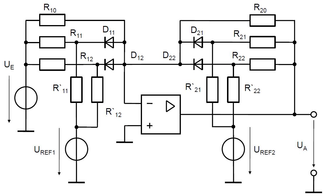 Sensor Linearization wit Operational Amplifier