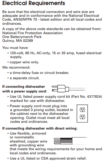 3 prong plug wiring diagram futaba servo diagrams what is the typical dishwasher disposer electrical connection code that allows garburators and dishwashers to be cord connected