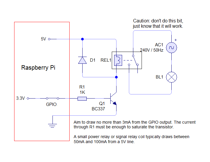 Pid Controller Wiring Diagram 230v 3v Relay Raspberry Electrical Engineering Stack Exchange