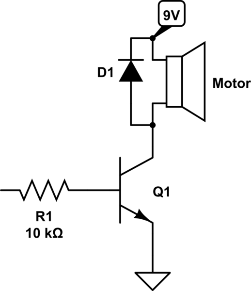 Why this simple DC Motor + PWM circuit is not working