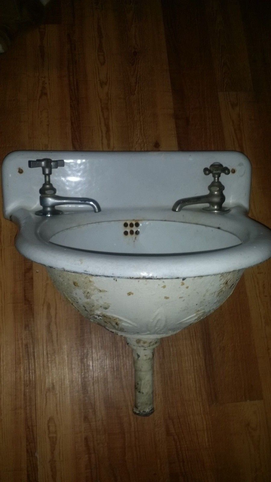 antique cast iron sink wall mounting