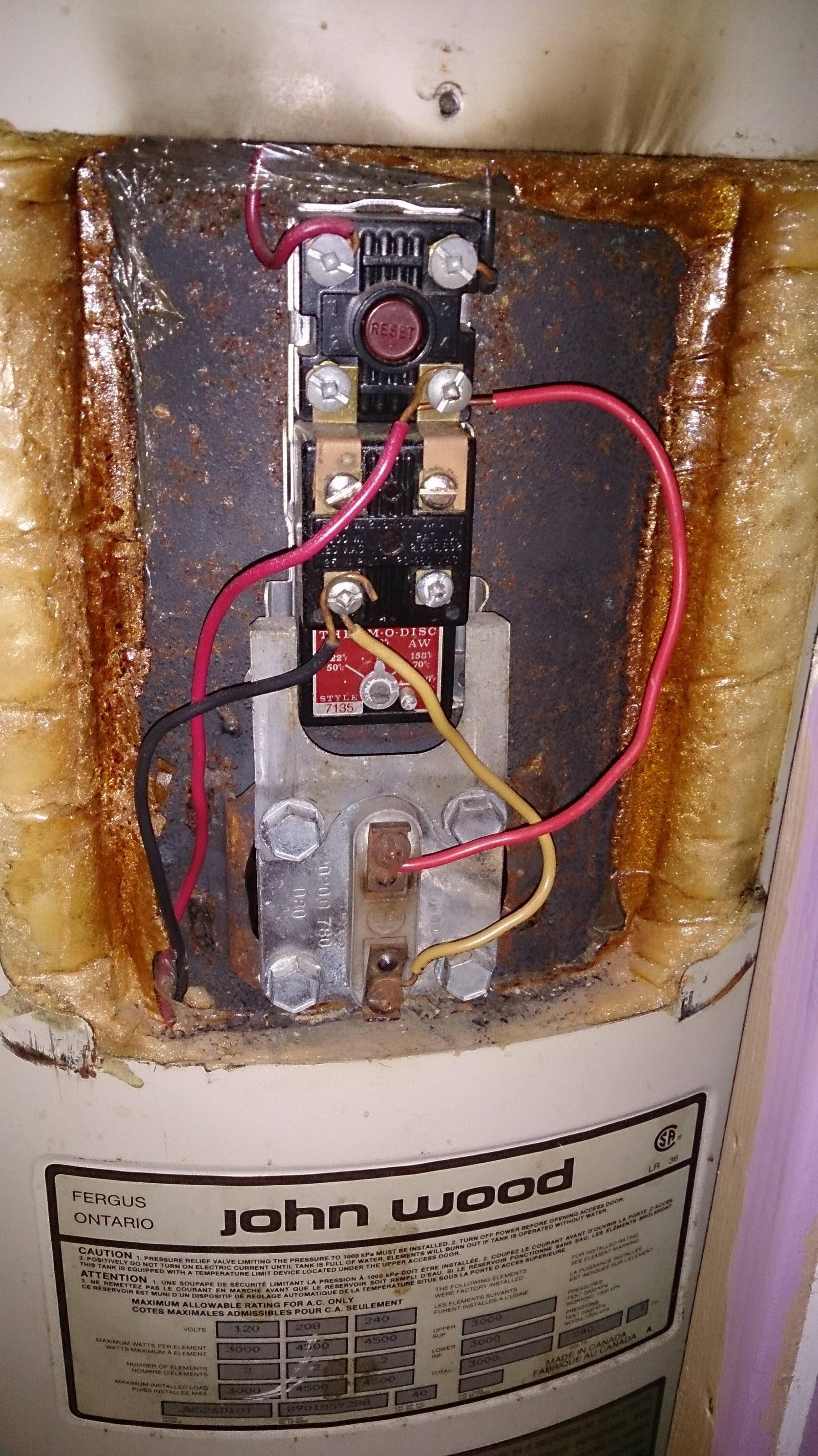 hot water heater relay wiring diagram