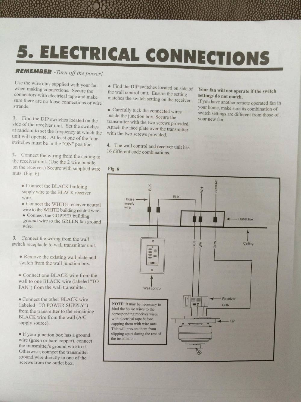 medium resolution of  and mounted manufacturer s wiring guide electrical switch ceiling fan
