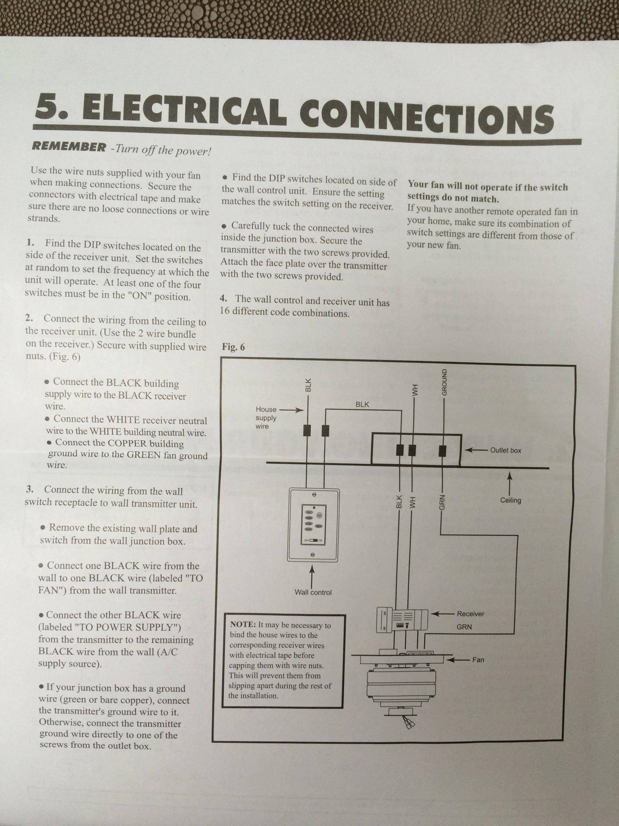 hight resolution of  and mounted manufacturer s wiring guide electrical switch ceiling fan