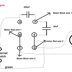 Hard Start Capacitor Wiring Diagram Schematic Of Or Gate Motor Two 2 Induction Humming Troubleshooting Electrical