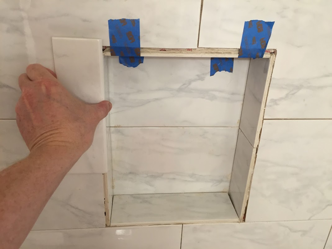 can i glue a decorative tile to the