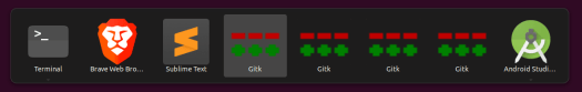 GitK in application switcher