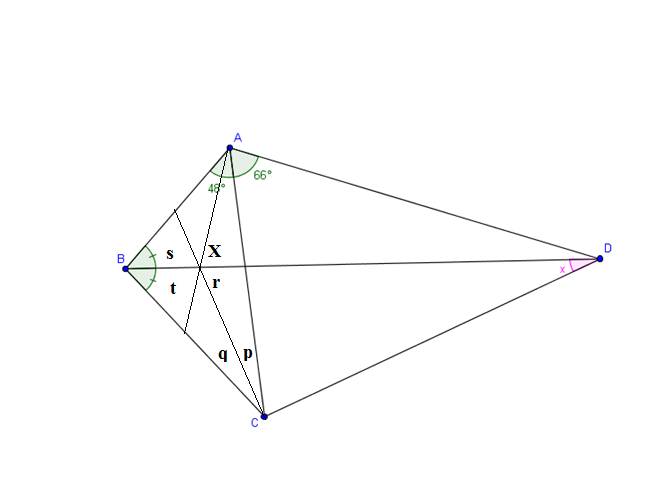 Elementary geometry question involving quadrilateral and