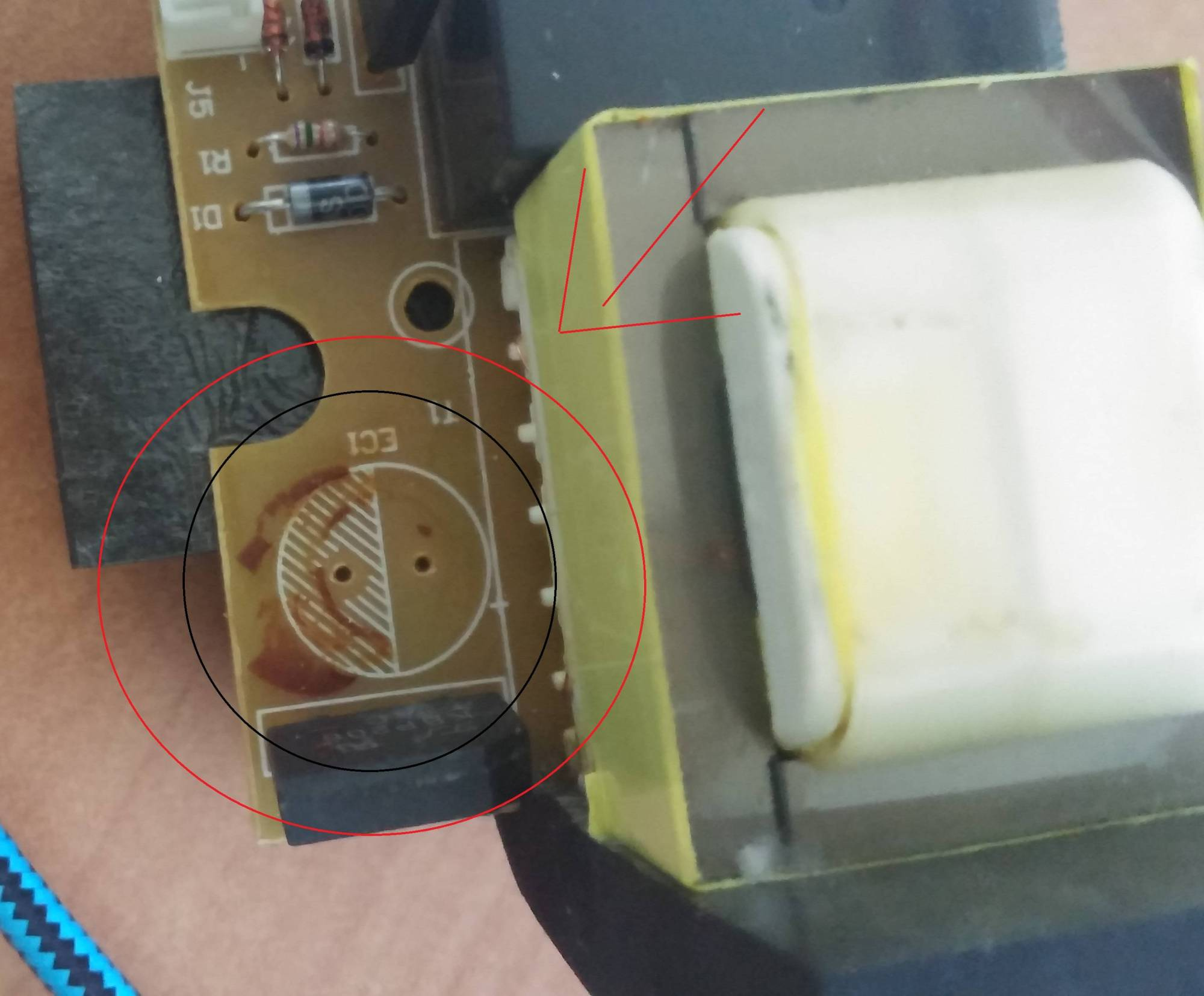 hight resolution of how to determine the electrolytic capacitor polarity from pcb printings