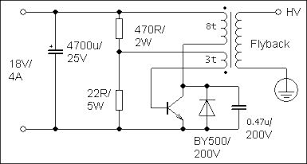 Powering transformers using a switching transistor circuit