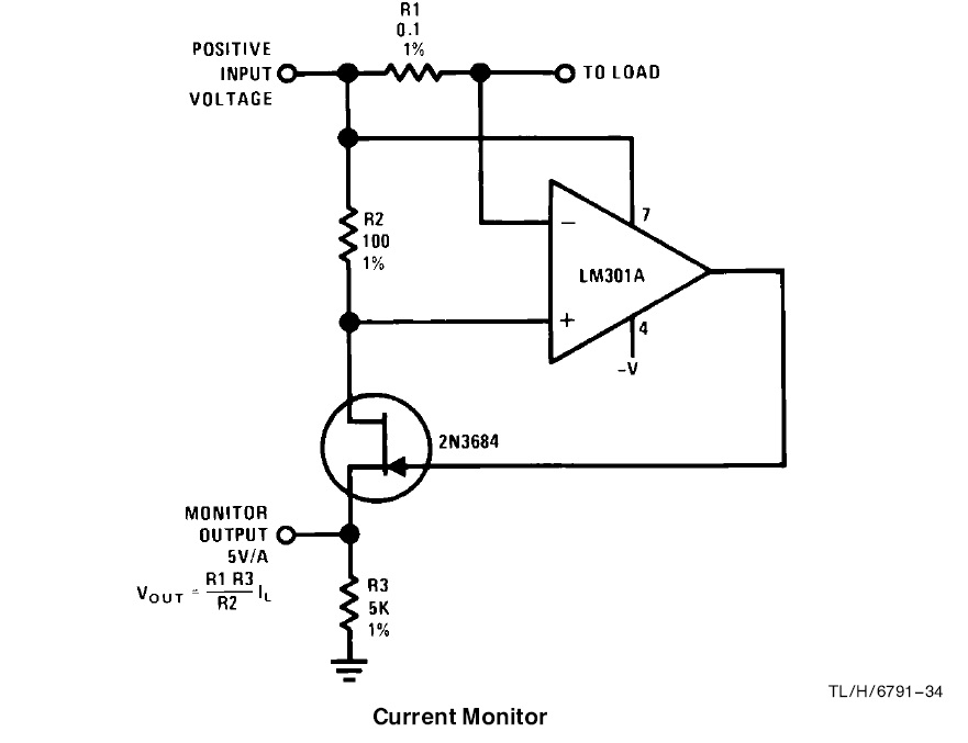 sensing how does this current monitor circuit works electrical
