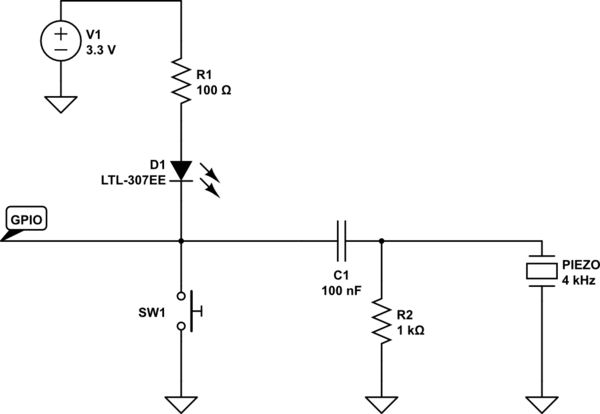High Pass Filter Diagram