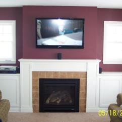 Living Room Tv Mounting Height Photo Of Furniture How Should I Run Wiring For My Above-fireplace Mounted ...
