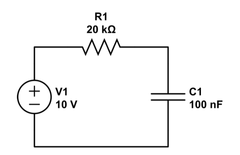 How is the voltage across a capacitor measured in a