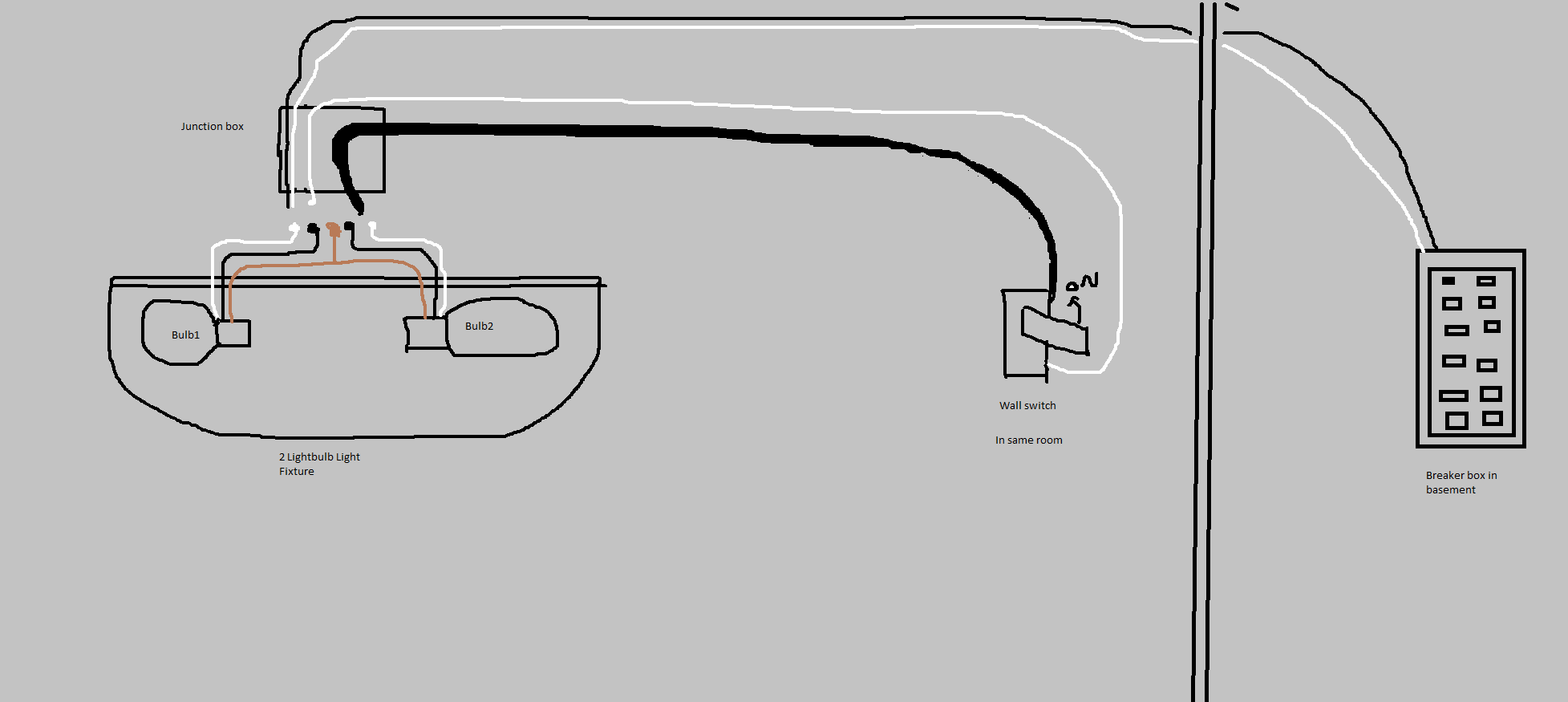 wiring diagram for spotlights in ceiling 2003 gmc envoy parts electrical 4 wires box 2 on new light help