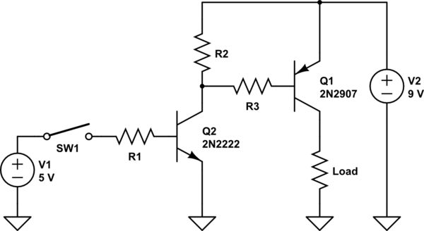 PNP transistor can't off, help appreciated ty!