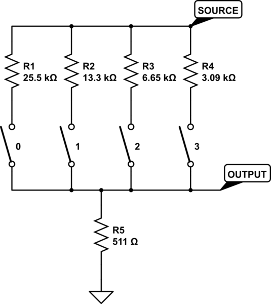 How should I use rotary switches and resistor networks to