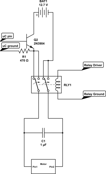 dpdt relay motor control
