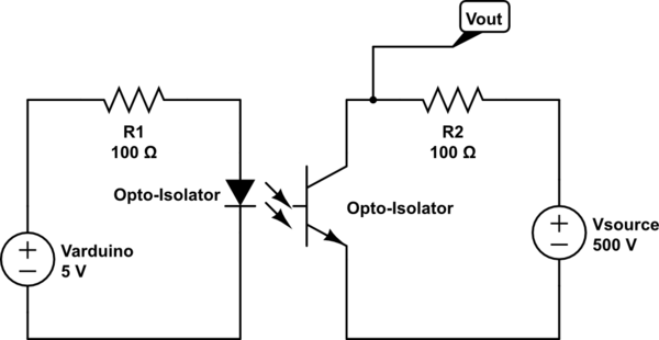 Arduino controlling high voltage DC source, Opto-Isolator