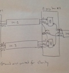 electrical ceiling fan and light on separate three way switches4 way switch wiring diagram fan light [ 1560 x 734 Pixel ]