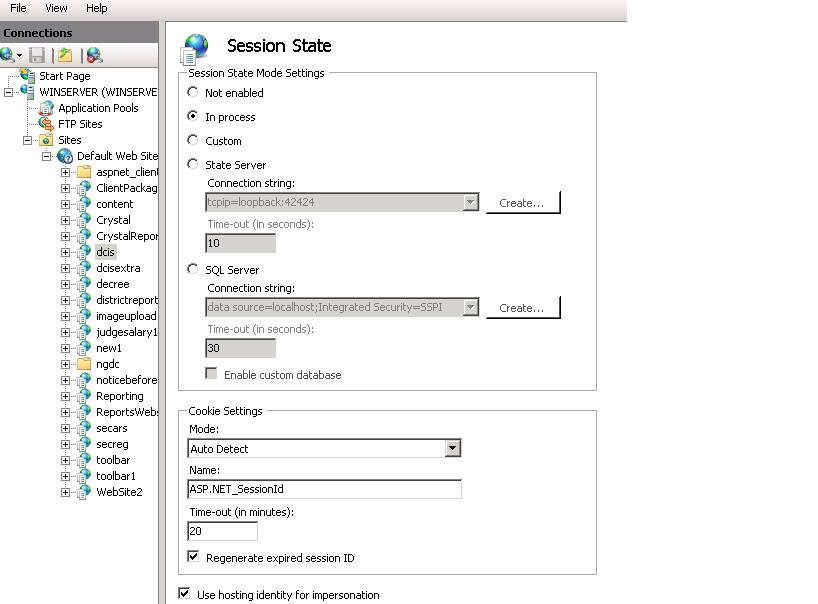 Using session for user authentication in asp.net c#