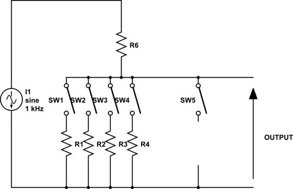 voltage divider circuit schematic