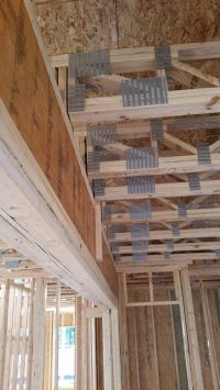 support - Do ceiling joists need to rest on cross beams ...