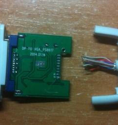 display how to properly solder apple u0027s thunderbolt to vga superdp to vga back displayport pinout diagram  [ 1329 x 1085 Pixel ]