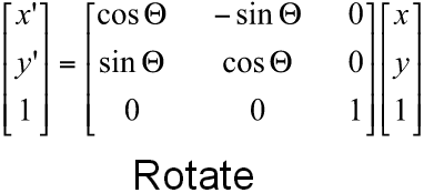Calculating translation value and rotation angle of a