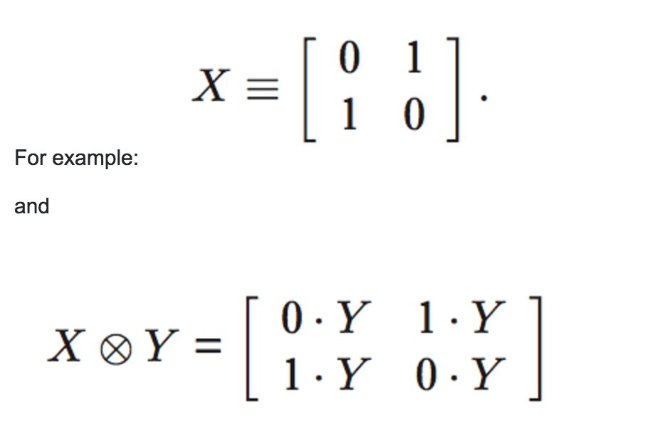 Output the tensor product of two matrix as a matrix