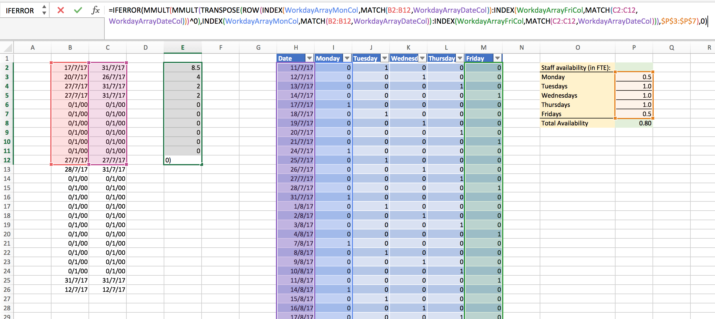 How To Use Array Formula To Sum Columns Then Rows Then