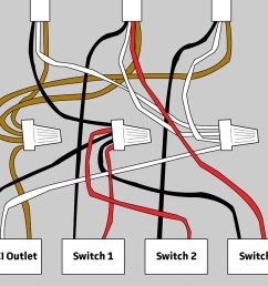 wiring for gfci and 3 switches in bathroom home improvement stack 3 switch wiring diagram bathroom [ 1000 x 864 Pixel ]