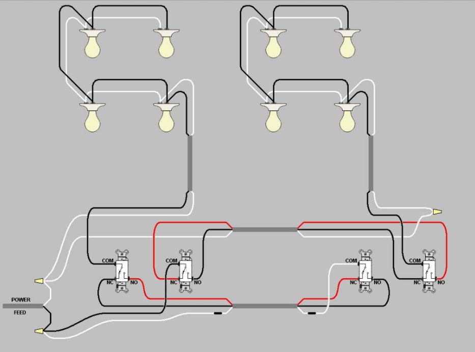 3 wire pickup wiring diagram switch multiple lights electrical extending power from existing three way circuit