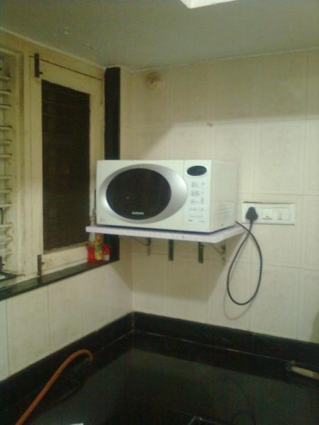 microwave shelf be stabilized