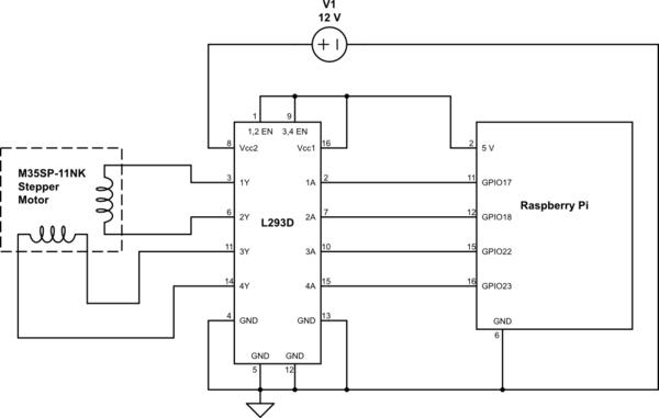 L293D 2 Phase Bipolar Stepper Motor