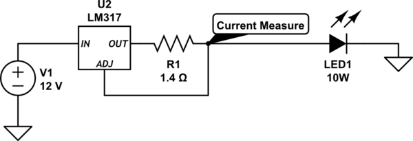 Puzzled with the result of LM317 constant current