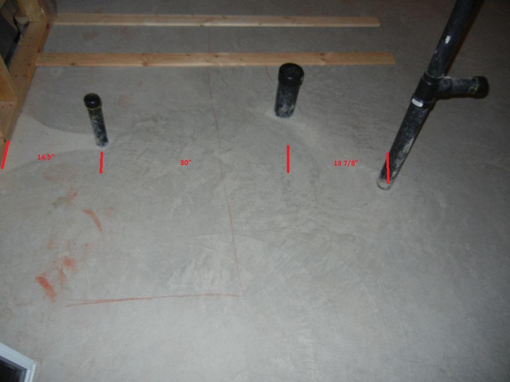 bathroom plumbing diagram concrete slab 30ampere ladestecker basement rough in configuration home
