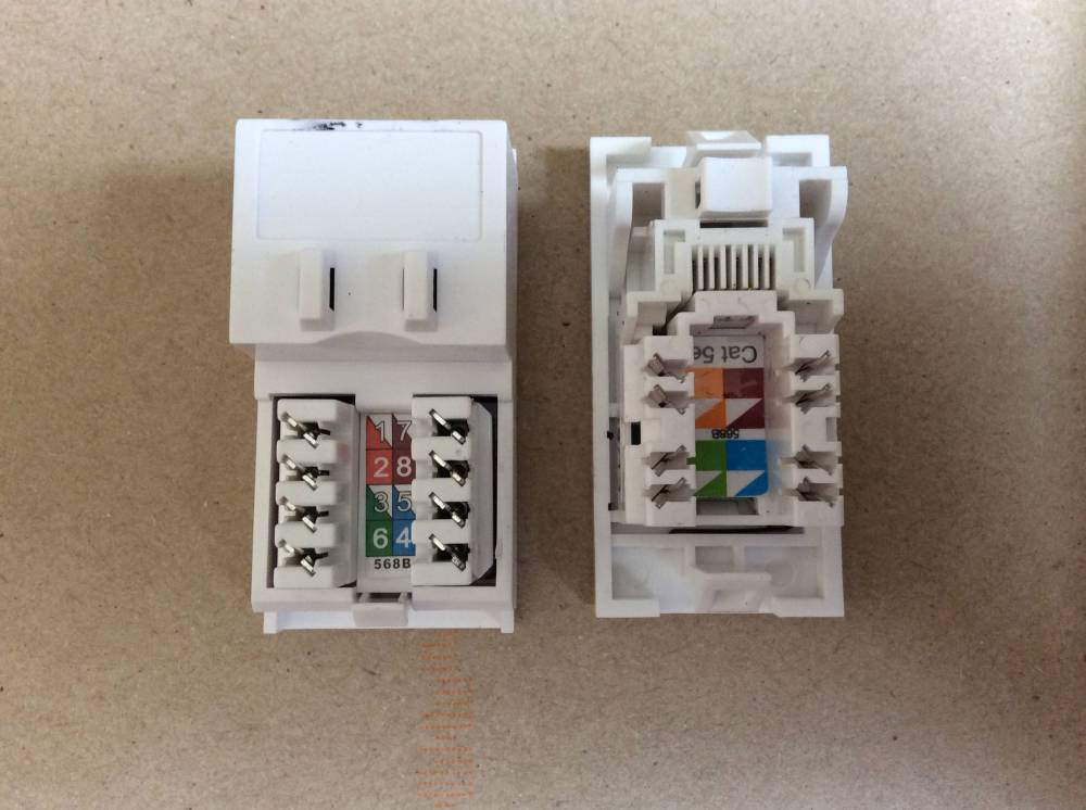 medium resolution of cat5 socket wiring issues