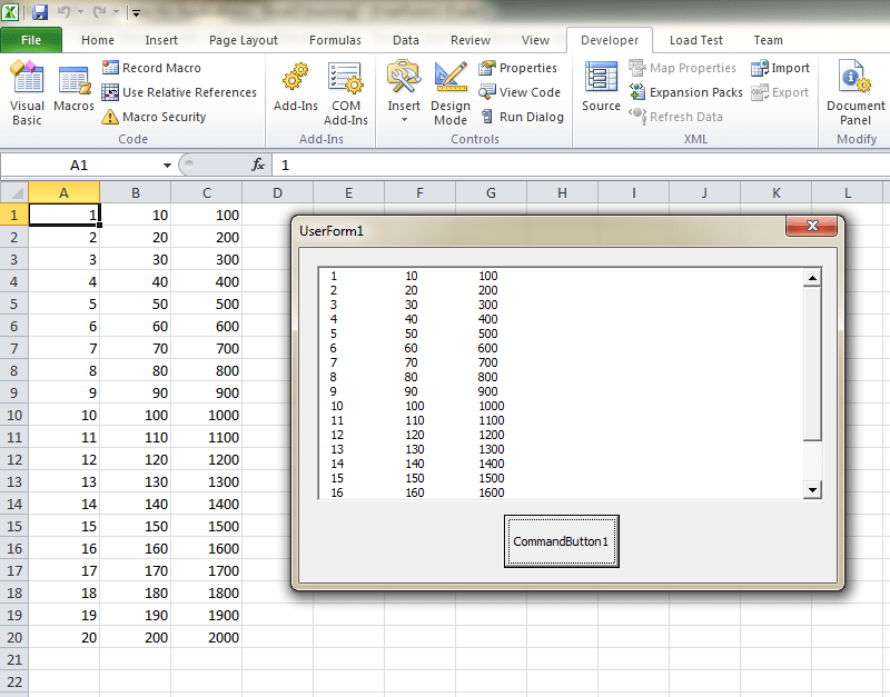 How To Display Part of Excel on VBA Form | Chris Memo